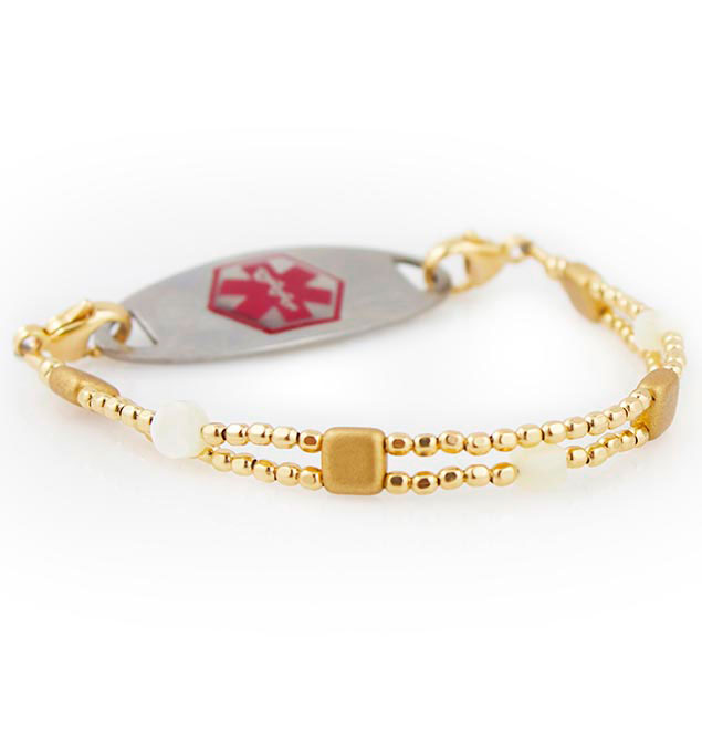 Gold Coast Medical Alert Bracelet For Women With Tag