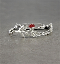 Medical alert bracelet with sterling silver tree centerpiece and pearls