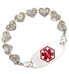 Heart Strings Medical ID Bracelet With Tag