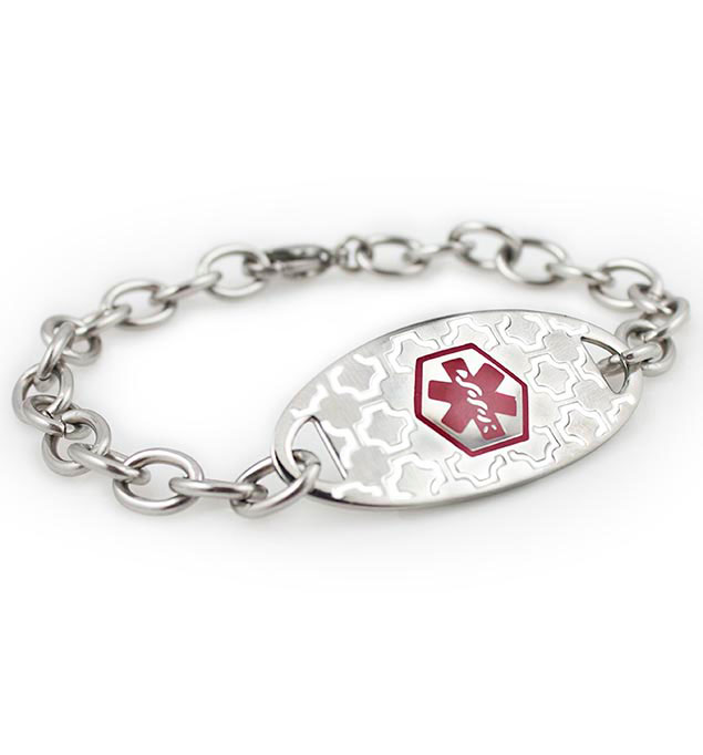 Makenna Silhouette Stainless Medical ID Bracelet