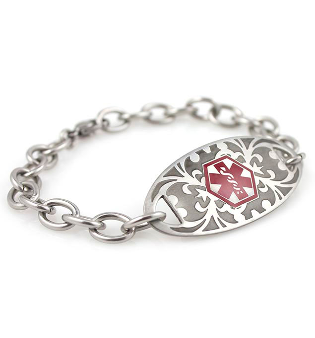 Mackenzie Gardenia Stainless Medical ID Bracelet