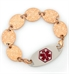 Medallion Rose Gold Tone Medical ID Bracelet