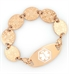 Medallion Rose Gold Tone Medical ID Bracelet with Rose Gold Tag