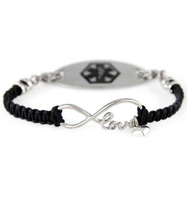 I Love You Forever Medical ID Bracelet
