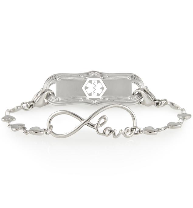 I Love You For Always Medical ID Bracelet