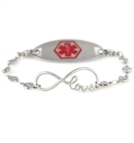 I Love You For Always Medical ID Bracelet