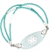 Clearwater Medical ID Bracelet with Turquoise Silhouette Medical ID Tag