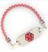 Pink Bolo 3MM Medical ID Bracelet | Lauren's Hope