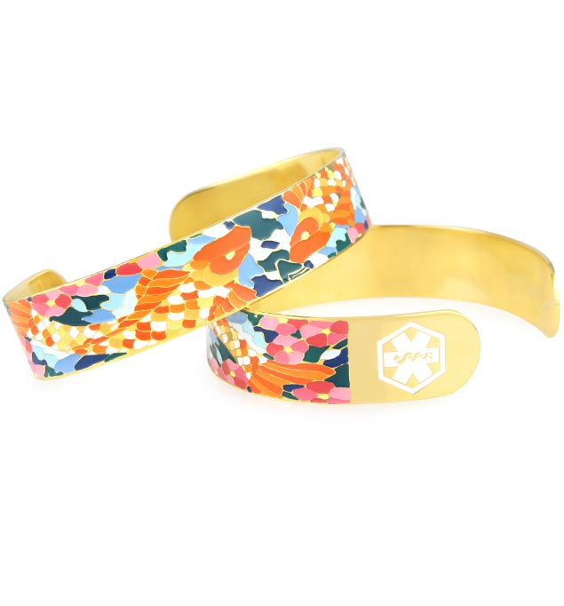 Golden Koi Medical ID Cuff