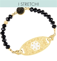 Alia Stretch Medical ID Bracelet | Lauren's Hope