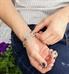 Custom laser engraved medical alert tag on interchangeable bracelet