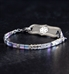 Silver and pastel medical alert bracelet with flat smooth beads