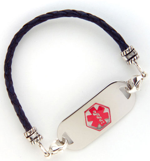 Blue Bolo 3MM Medical ID Bracelet | Lauren's Hope