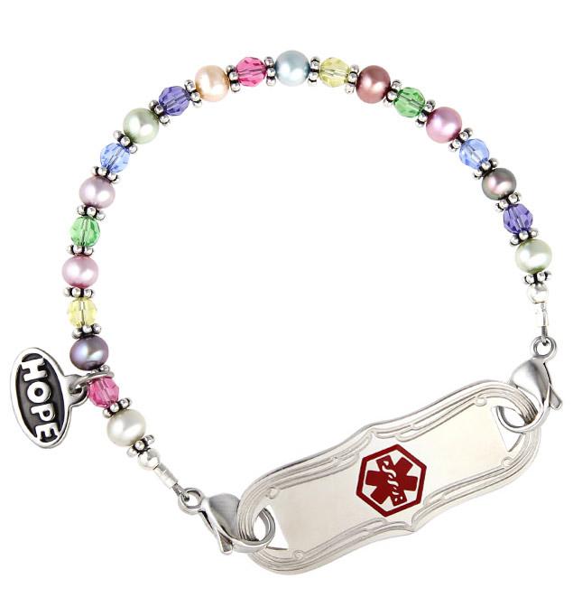 Petite Petals Medical ID Bracelet