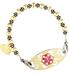 Gold Balis 6mm Medical ID Bracelet | Lauren's Hope