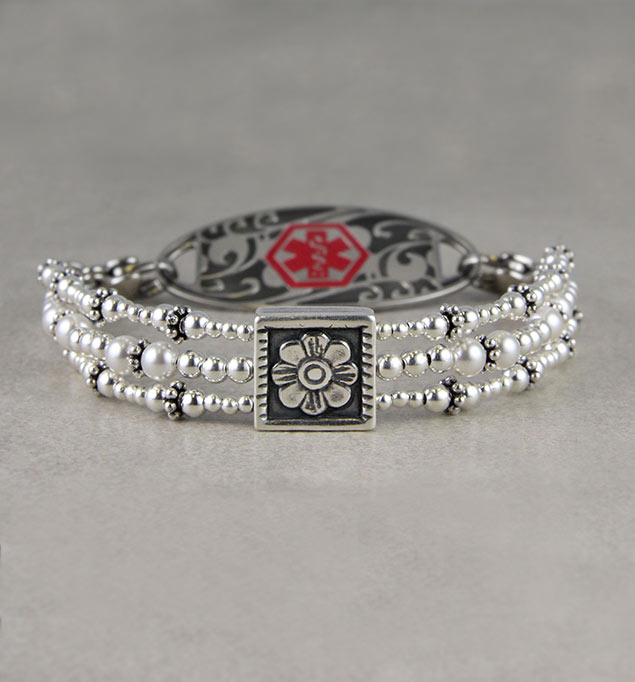 Blooming Cute Medical ID Bracelet