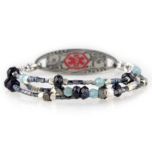 Denim and Diamonds Medical ID Bracelet