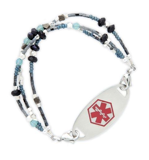 Denim and Diamonds Medical ID Bracelet