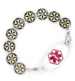 Black Star Medical ID Bracelet | Lauren's Hope