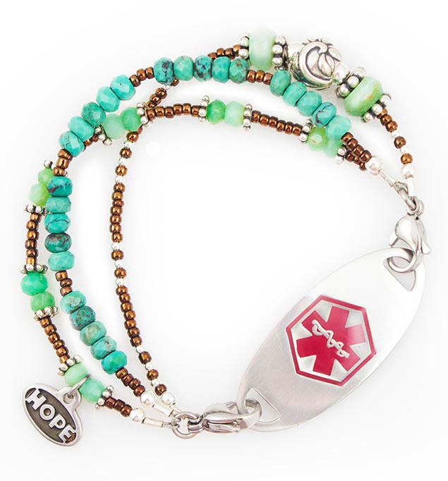 Lake House Medical Alert Bracelet For Women With Tag