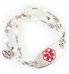 Seaside Medical Alert Bracelet with Red Oval Tag