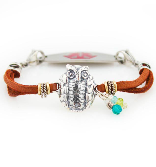 Hooty Who Medical Alert Bracelet For Women With Tag