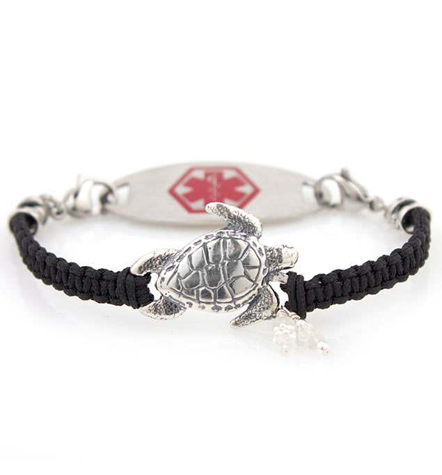 Sydney Medical ID Bracelet with Stainless Red Oval Medical Alert Tag