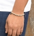 Gold and Silver Balis Stretch Medical ID Bracelet. Sterling silver balis, 14-karat gold- or silver-filled rounds, Hope charm