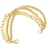 matte gold finish over brass multiple chain interchangeable bracelet