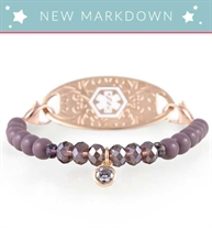 NEW MARKDOWNS! Rose gold stretch bracelets with lavender beads and crystal drop