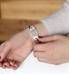 Custom laser engraved silver medical alert tag