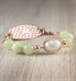 Rose gold medical ID bracelet with jade green beads and white centerpiece
