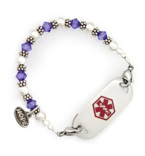 Tanzanite Crystal Medical ID Bracelet
