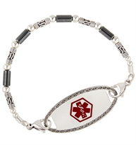 Karma With Hematite Medical ID Bracelet