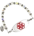 Translucent Crystal Medical ID Bracelet | Lauren's Hope