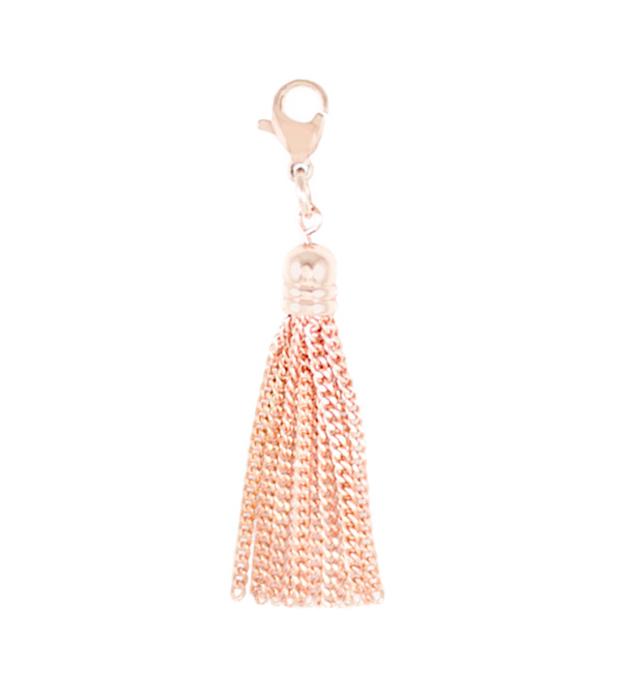 Rose Tone Sparkle Tassel