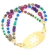 Gemini Medical ID Bracelet with Gold Tone Tag