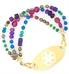 Gemini Medical ID Bracelet with Gold Tone Tag