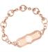 Medical alert bracelet bridle chain in rose gold with decorative medical alert plaque