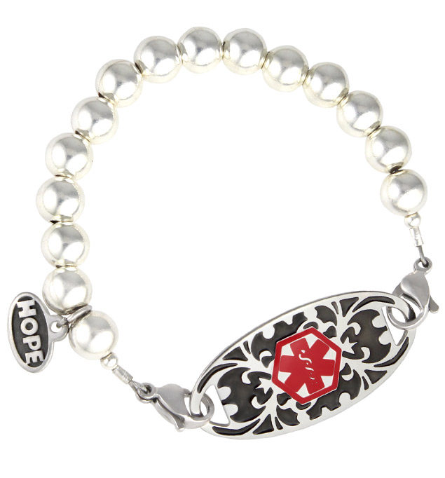 Silver Splash Medical ID Bracelet