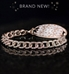 Rose gold dipped curb chain medical alert with cubic zirconia inlay