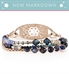 NEW MARKDOWN! Rose gold beaded medical ID bracelet with navy blue crystals and rose gold accents