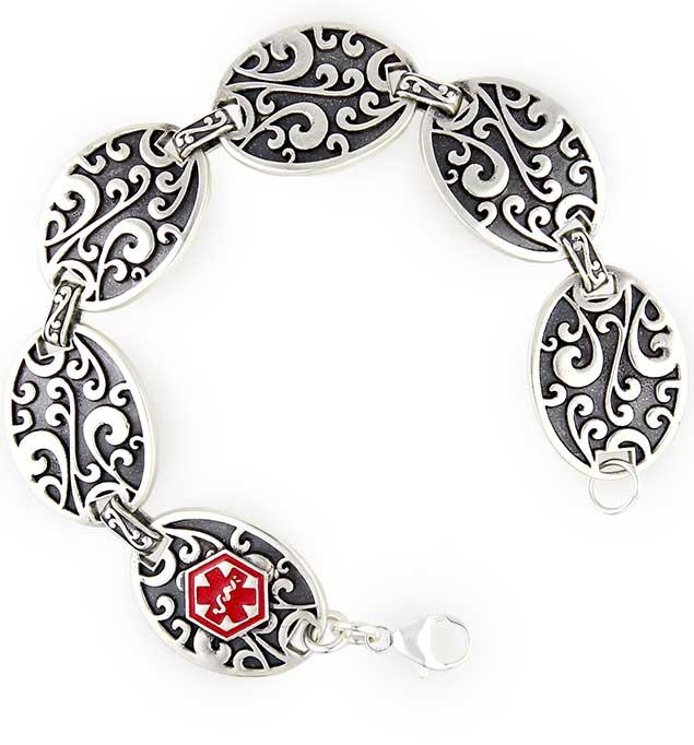 Belle Fleur Medical Alert Bracelet