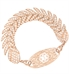 Rose Gold Feather Medical ID Bracelet