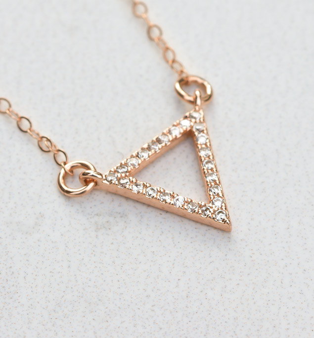 Kendall Necklace in Rose Gold