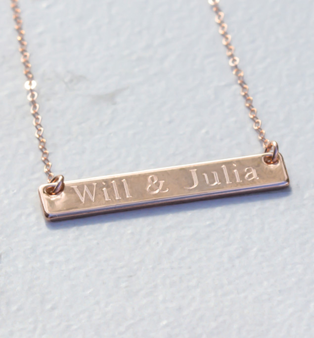 Piper Necklace in Rose Gold