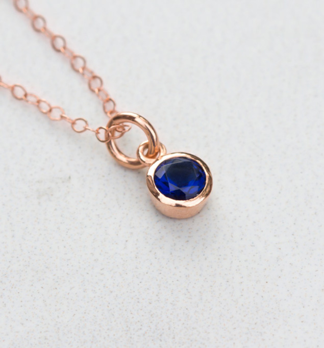 Lilah Necklace in Rose and Blue