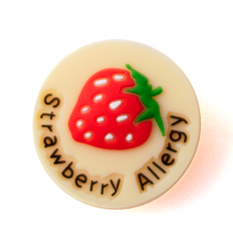 Jelly Button Silicone Strawberry Allergy