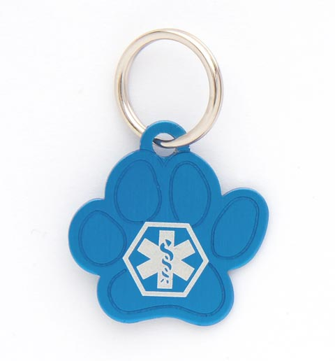 Pet Medical ID Tag Small (Blue)