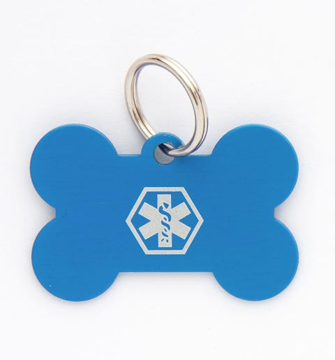 Pet Medical ID Tag Large (Blue)